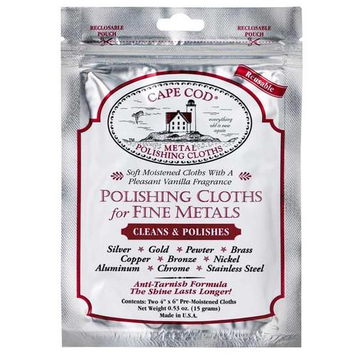 "Cape Cod 4"" x 6"" Moist Polishing Cloth Pack of 2"