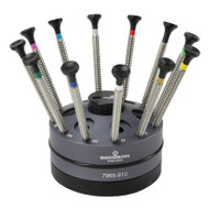 Bergeon 7965-S12 Special Profile Screwdriver Set of 12 on Rotating Stand