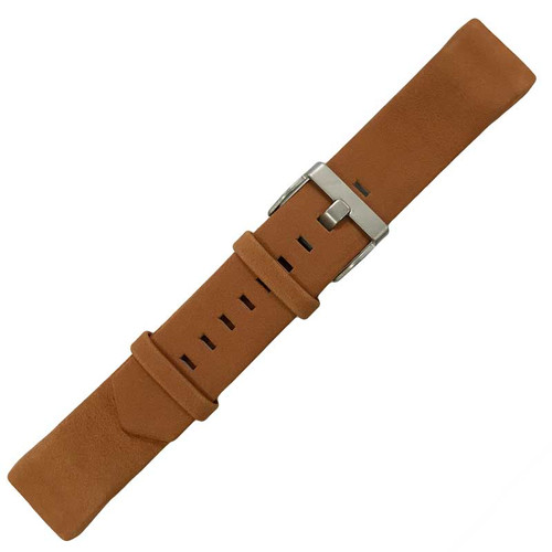 Brown Made to Fit Genuine Leather Band - Fitbit Charge® 2 Large
