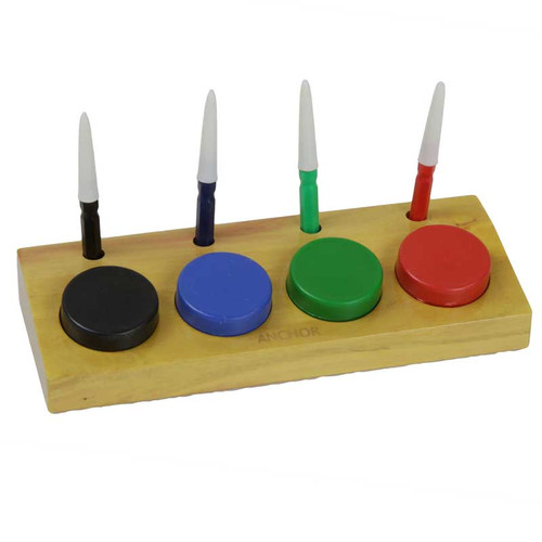 Set of 4 Dip Oilers and Cups in Stand