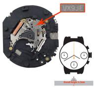 Hattori Japan Multifunction 6 Hand Quartz Watch Movement VX9J Overall Height 6.2mm