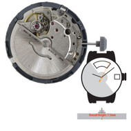 Miyota/Citizen LTD 3 Hand Automatic Watch Movement 8285 Day at 12:00 Date at 3:00 Overall Height 7.5mm