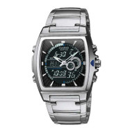 Casio® EFA120D-1A Edifice Analog Digital Stainless Steel Watch