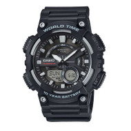 Casio® AEQ110W-1AV Stainless Steel World Time Digital Watch