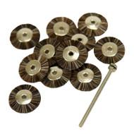 "3/4"" Bristle Brush Wheels - Includes a 3/32"" Mandrel (Choose Texture)"