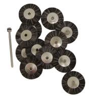 "1"" Super Bristle Brush Wheels - Includes a 3/32"" Mandrel (Choose Texture)"