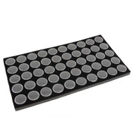 Round Plastic Boxes with Foam Insert - 50 Each on Pad