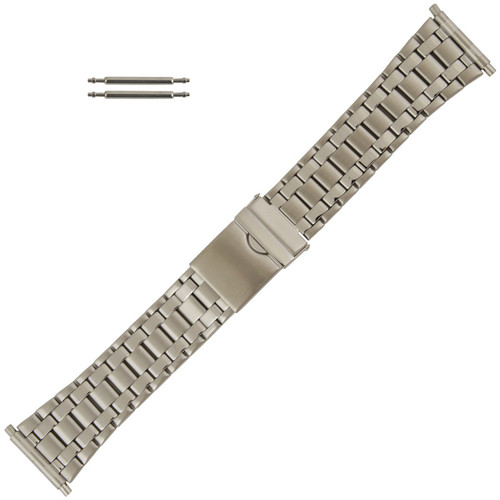 Wide Metal Watch Band Stainless, Expandable Ends 22-28MM