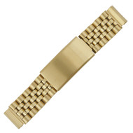 Southwest Style Gold Tone Watch Band Extender Links with Tri-Fold Clasp