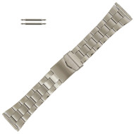 Wide Metal Watch Band Stainless Steel, Expandable Ends 20-26MM