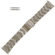 Stainless Steel Wide Metal Watch Band, Expandable Ends 20-26MM