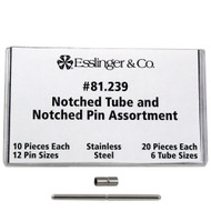 Notched Pin and Notched Tube Assortment for Watch Bands