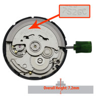 Genuine Seiko® 3 Hand Automatic Watch Movement 7S26 Overall Height 7.2mm