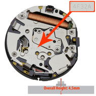 Genuine Seiko® 3 Hand Perpetual Quartz Watch Movement 4F32 Date at 3:00 Overall Height 4.5mm