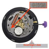 Miyota/Citizen LTD Eco Drive Quartz Watch Movement G431 Overall Heights 3.4mm