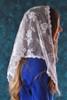 White Triangle Chantilly Lace Mantilla