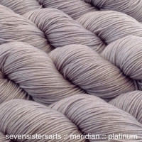 Platinum is a lovely lightsilvery gray,soft asa cloud, color A in the Transition Metals tonal series. Semi-solid.