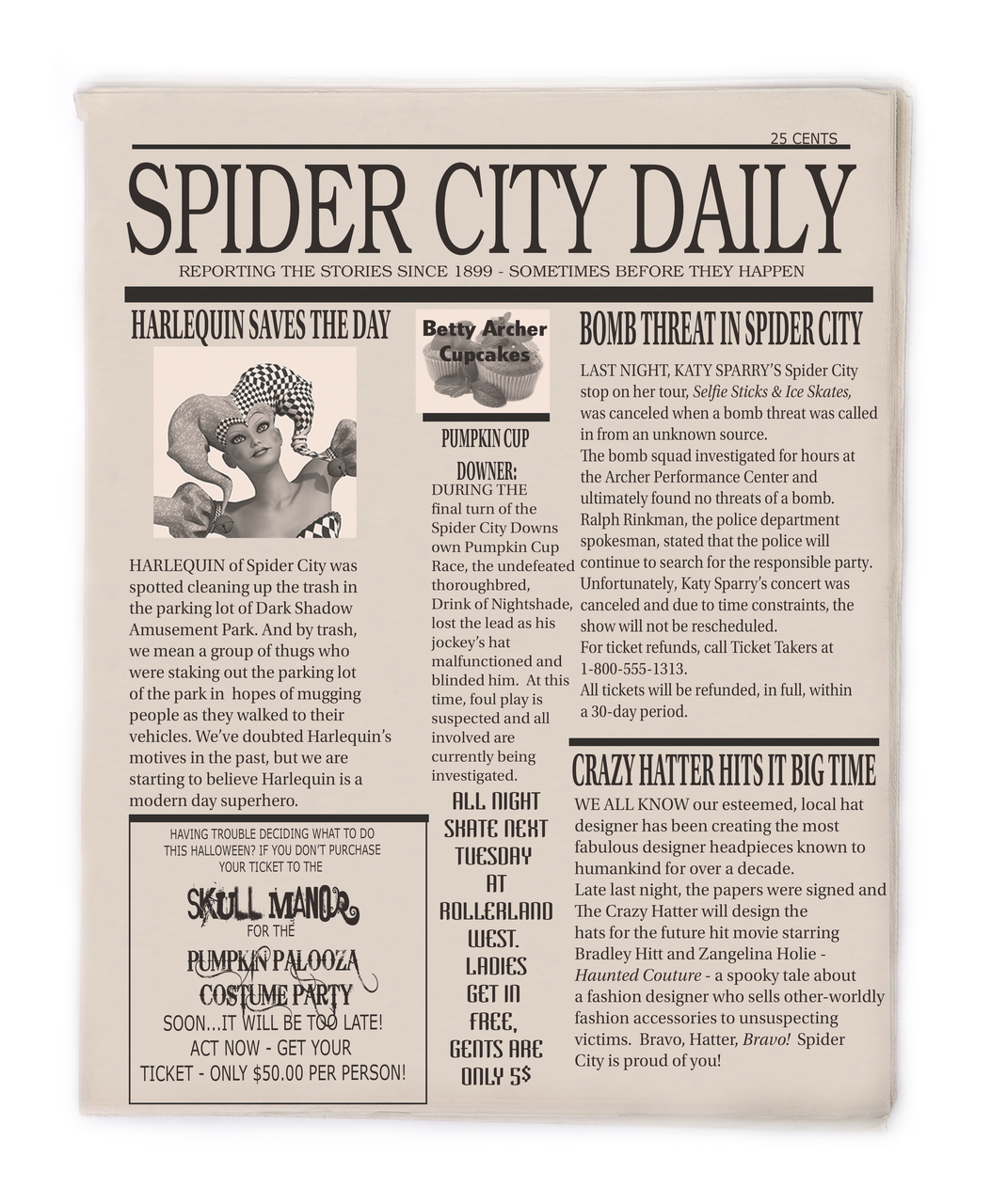 Spider City Daily game accessory