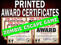 Zombie Award Certificates - printed
