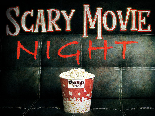 Scary Movie Night mystery party game.
