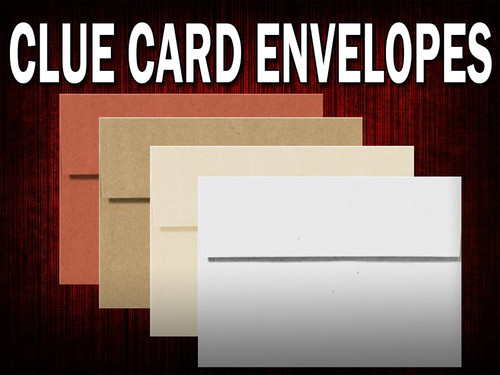 A2 envelopes for murder mystery party clue cards