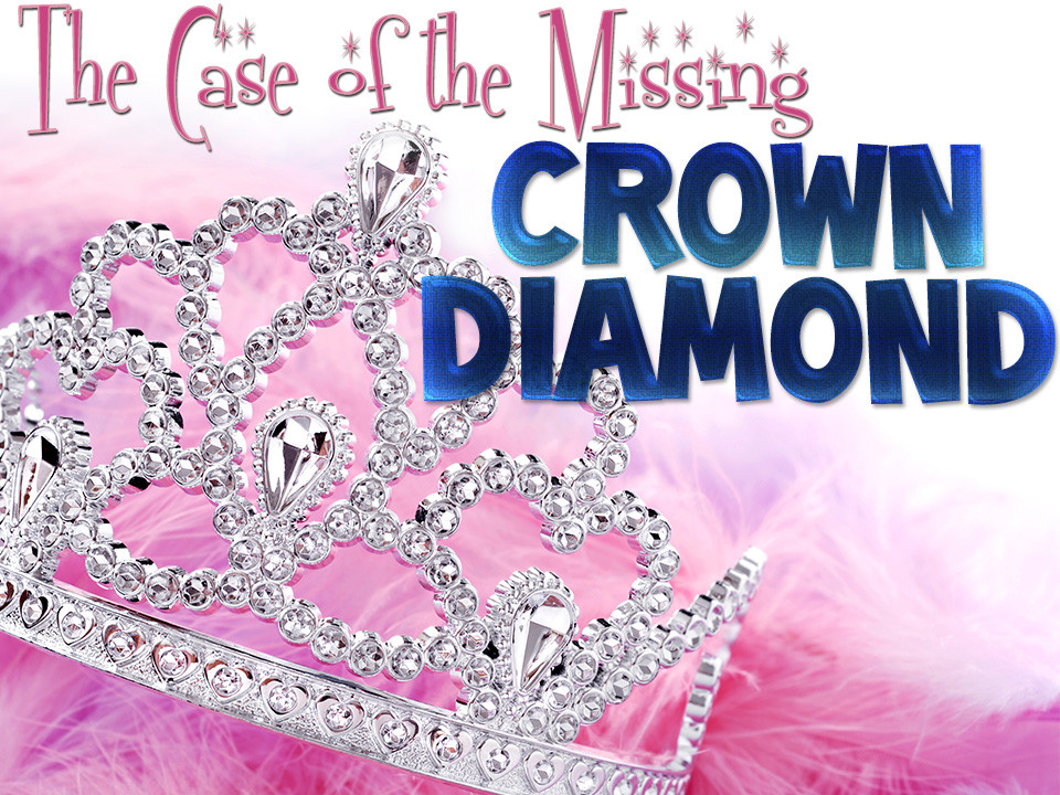 Crown Diamond mystery party game for kids