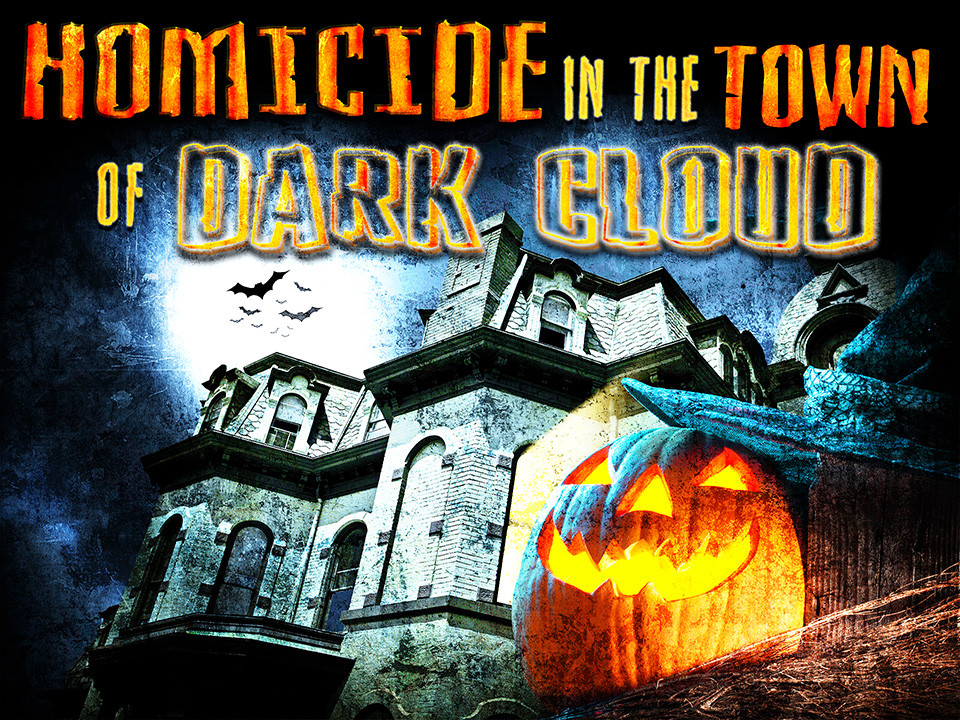 Halloween Homicide in the town of Dark Cloud murder mystery party game