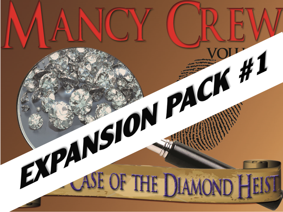 Diamond Heist mystery party for kids expansion pack #1