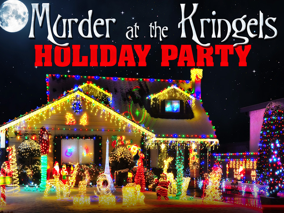 Christmas murder mystery party for up to 100 guests.