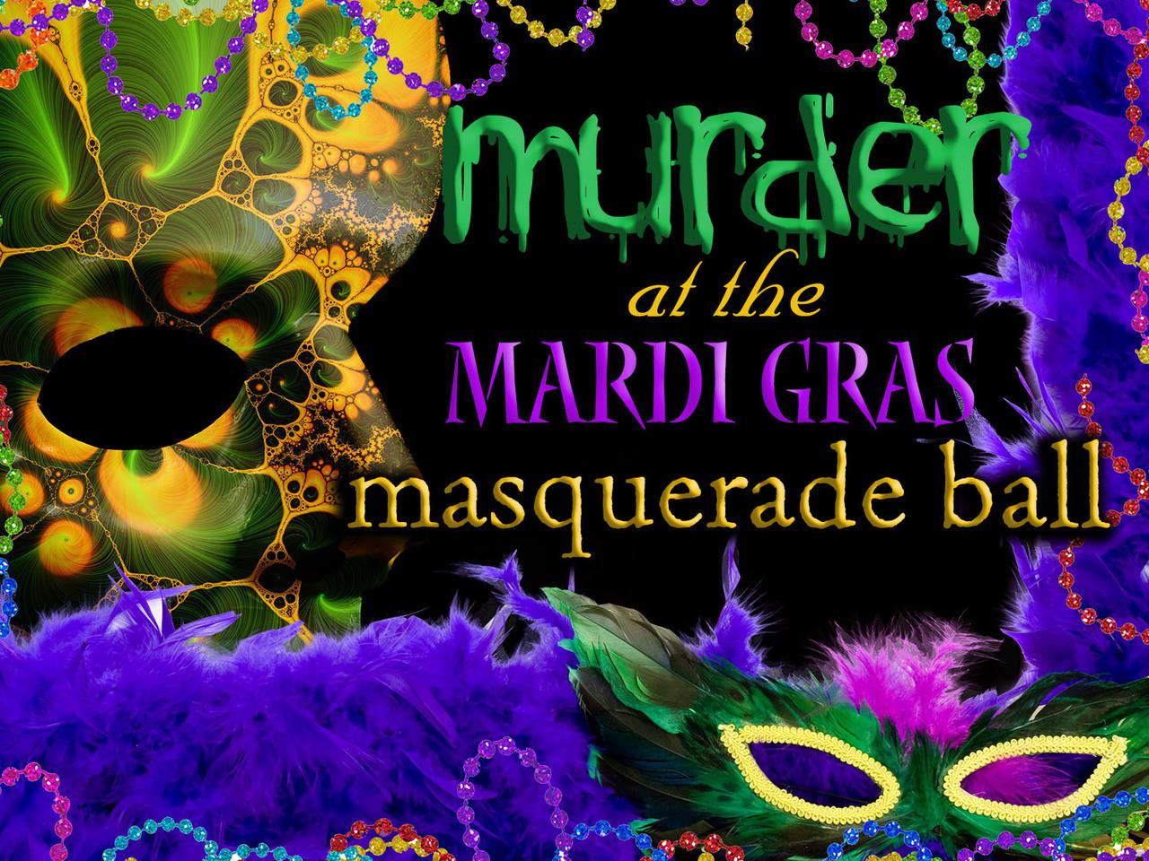 Mardi gras masquerade ball mystery party