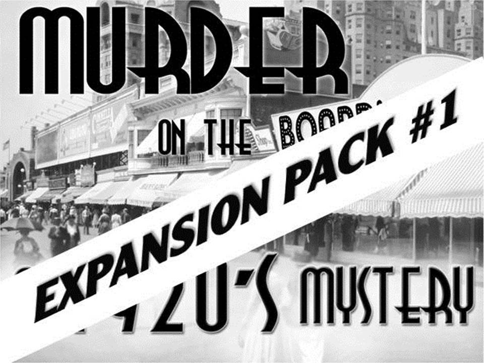 1920s Boardwalk murder mystery expansion pack #1