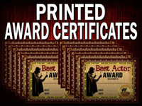 Award certificates for murder mystery parties - 12 pack