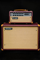 Mesa Boogie Mark V 25 Head and 1x12 Wide Body Cabinet - Vintage Bordeaux & Cream Jute Grill - Custom Design