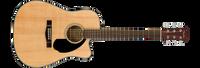 Fender CD-60SCE, Dreadnought , Natural