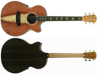 Clark Angel 3 AN3EC-RDRW Redwood Face Rosewood back & sides, cutaway & 3 way pickup