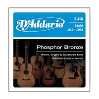 D'Addario, DAEJ16, 12-53, Phosphor, Bronze, Light, Acoustic, Guitar, Strings