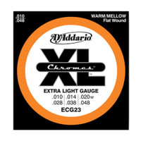D'Addario, ECG23, 10-48, Chromes, Flat, Wound, Electric, Guitar, Strings