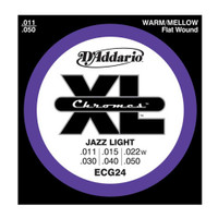 D'Addario, ECG24, 11-50, Chromes, Flat, Wound, Jazz, Light, Electric, Guitar, Strings