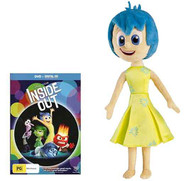 Inside Out Joy Talking Feature Plush BUNDLE with Inside Out Movie DVD