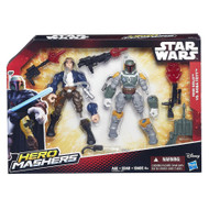 "Star Wars VII Hero Mashers 6"" Action Figure Battle Pack - Han Solo vs Boba Fett"