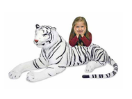 White Tiger Giant Stuffed Animal by Melissa and Doug