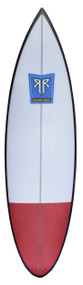 In 2008, Razor Reef Surfboards of Southern California designed the Shiroke Bomb, dimensionalizing high performance surfing in small waves. It includes a 2-stage rocker and added spiral vee starting in front of the fins to allow for rail-to-rail quickness. This design makes the Shiroke Bomb an all around go to shortboard for small to head high plus waves. This board was re-named as the Shiroke Bomb and designed specifically for team rider Jake Shiroke of San Clemente. Jake use this board to surf the local beach breaks at Trestles, T-Street, and San Onofre.