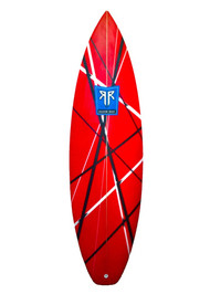In 2008, Razor Reef Surfboards of San Clemente, California designed the FrankenStrat, dimensionalizing high performance surfing in small waves. It includes a 2-stage rocker and added spiral vee starting in front of the fins to allow for rail-to-rail quickness. This design makes the FrankenStrat an all around go to shortboard for small to head high plus waves. This board was re-named as the FrankenStrat and designed specifically for team rider Jake Shiroke of San Clemente. Jake use this board to surf the local beach breaks at Trestles, T-Street, and San Onofre.  All Razor Reef Surfboards are hand made, designed and shaped in Southern California.