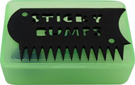 Sticky Bumps Wax Box & Comb (Green)