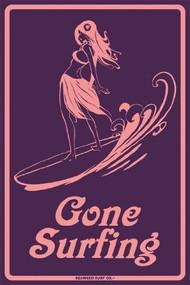 Seaweed Surf Gone Surfing Girl Surf Sign