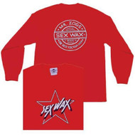 Sex Wax Mens Sex Wax Star Long Sleeve Tee in Red