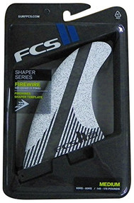 FCS II FW PC Carbon White Medium Tri-Quad Retail Fins