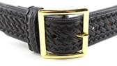 Leather Garrison Belt - Basketweave