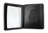Badge Flip-Out Wallet with Cut Out