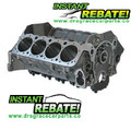 Dart SHP Special High Performance SBC Chevy Engine Block 31161211 with FREE SHIPPING and INSTANT REBATE SAVINGS Engine Block, Cast Iron, 4-Bolt Mains, 4.125 in. Diameter Bore, 2-Piece Rear Main Seal, Chevy, Small Block